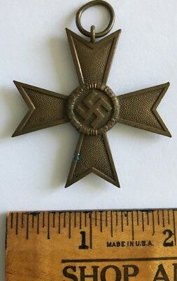WWII 2 German Iron Cross Merit Service Medal 1939