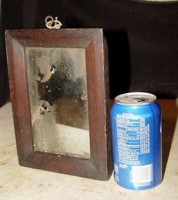 Estate Primitive Rustic Antique Period ? Wall Looking Glass Mirror As Found