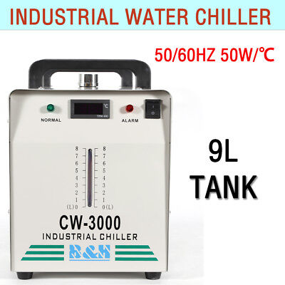 110V Industrial Water Chiller CW-3000 for 60W/80W Laser Tube Cooling USA STOCK
