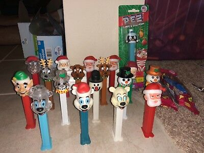 Lot of holiday pez dispensers