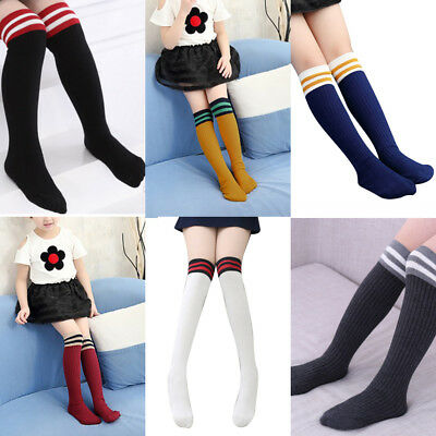 Baby Kids Toddlers Girls Knee High Socks Tights Leg Warmer Stockings For Age3-11