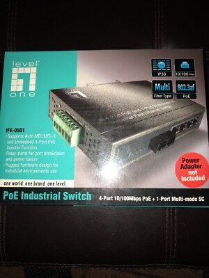 LevelOne Industrial PoE Switch IFE-0501 Switch 4-port 10/100mbps Poe+port Multi