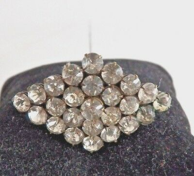 """Beautiful Antique Victorian Vintage~Clear Crystal Rhinestone~9"""" Long Hatpin"""