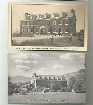 (2) 1920's COLD SPRING COLDSPRING NY JULIA BUTTERFIELD HOSPITAL  POSTCARDS