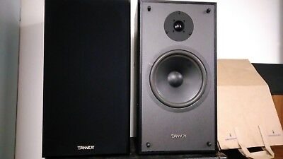 Tannoy C 8 Bookshelf Speakers With Grills Vintage Hi Fi