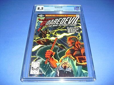 Daredevil #168 CGC 8.5 w/ WHITE PAGES from 1981! 1st App Electra not CBCS
