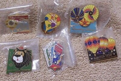 6 Balloon Pins Which Includes 2 Albuquerque Intl Balloon Fiesta Pins Lot #811807