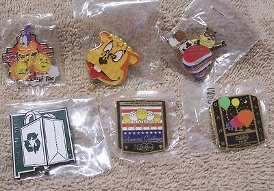 6 Balloon Pins Which Includes 2 Albuquerque Intl Balloon Fiesta Pins Lot #811801