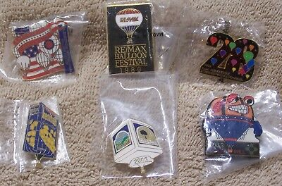 6 Balloon Pins Which Includes 2 Albuquerque Intl Balloon Fiesta Pins Lot #811804