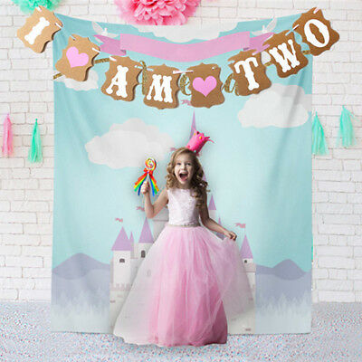 I Am Two 2Nd Boy Girl Birthday Party Garland Banner Bunting Baby Shower Strict