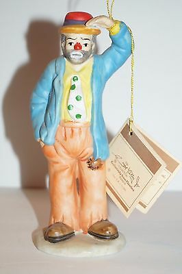 Emmett Kelly Jr. Collection Flambro Porcelain Figurine  of a Hobo Circus Clown
