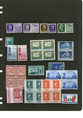 Italian Stamps/all Minged-Hinged As Pairs,singles & Blocks