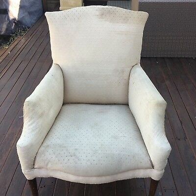 Antique armchair with timber detail