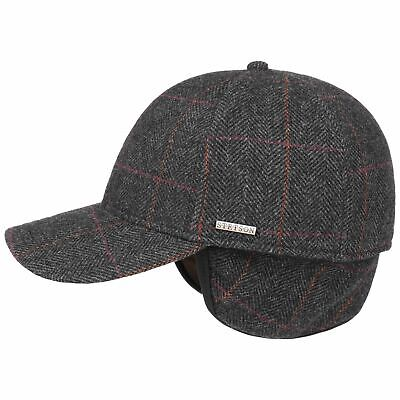9b224cbcefb2f2 Stetson Kinty Wool Cap with Ear Flaps Men Caps wool cap base ear protection