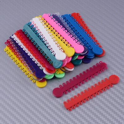 1040pcs Dental Orthodontic Multi Color Ligature Ties Elastic Bands Rings Braces