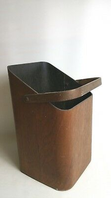 Mallod Vintage Bentwood Plywood Coal Scuttle