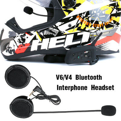Bluetooth Motorcycle Helmet Speaker Interphone Wired Headset +Clip for V4/V6