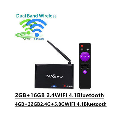 New MX9 Pro Smart Android 7.1 TV Box RK3328 Quad Core 16G/32G HD 4K 3D Player