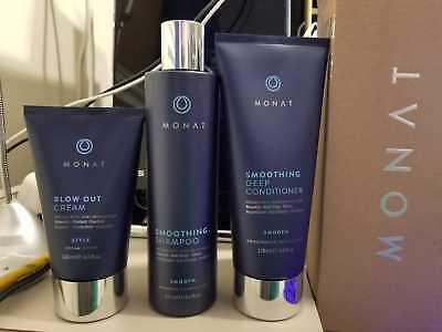 MONAT EFFORTLESS STYLE SYSTEM Blow Out cream, smoothing shampoo,deep conditioner