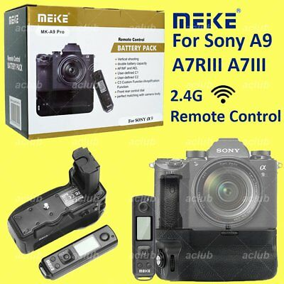 Meike MK-A9 Pro Battery Grip With 2.4Ghz Remote Control for Sony A9 A7R A7 III