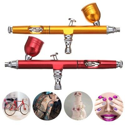 Dual Action Gravity Feed 0.3mm Gun Spray Airbrush Nail Art Paint Tattoo Kit Tool