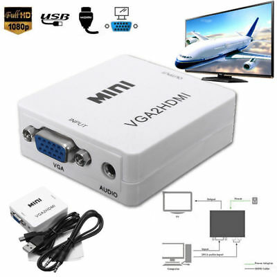 Laptop DVD TV KY Full HD Video 1080P Converter Box VGA to HDMI Adapter PC CHZ