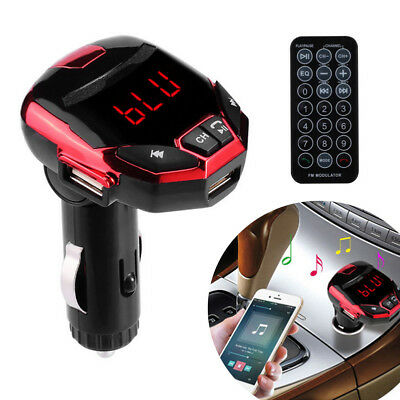 LCD Wireless Bluetooth FM Transmitter Modulator USB Car SD MP3 Player w/Remote Z