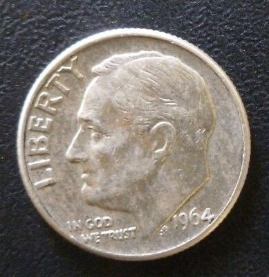 United States Of America 1 Dime 1964 D. Good Condition Coin.