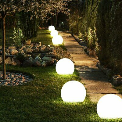 2 4pcs Led Solar Round Ball Lights Garden Path Outdoor