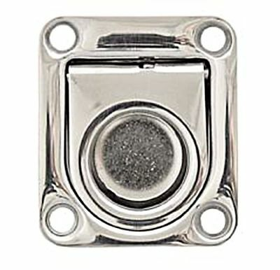 LINDEMANN Stainless Steel Satin Finish Hatch Pull with Spring 45x55mm