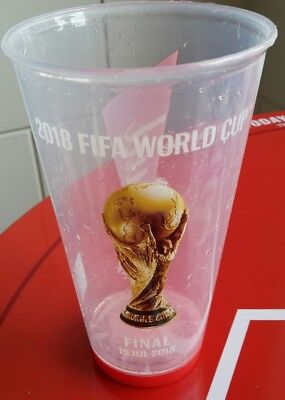 Sammler Bier Becher / Beer Cup 2018 FIFA World Cup #64 FINAL FRANCE - CROATIA