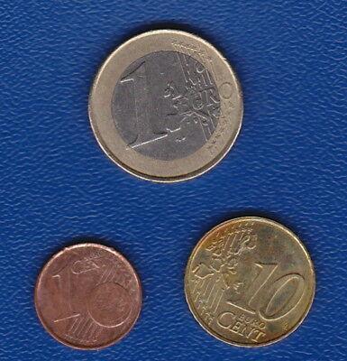 BELGIUM  -  EUROS  Set of 3 EURO GENERATION COIN -  (1 EURO, 10 Cent and 1 Cent)