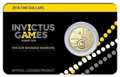 Australia: Invictus Games $2 Coin On Card Uncirculated 10,000 Issued