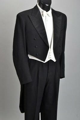 Naval Officers' 1950s' Gieves Tailored Full Evening Dress White Tie Tails. ILJ