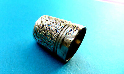 Antique Charles Horner Dorcas Silver Coated Steel Sewing  Thimble