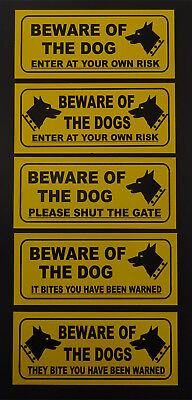 GGG003 Please Close The Gate Signs Stickers Beware Of The Dog