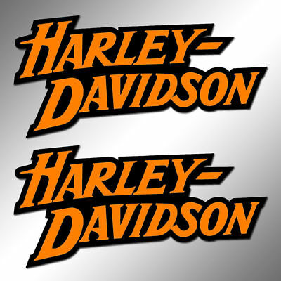 "2x Harley Davidson Decal Sticker 3.0"" x 1.5"" die cut"