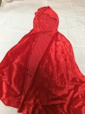 ladies red cape fancy dress hood - red riding hood