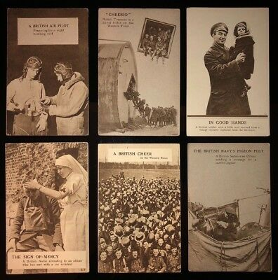 11 Vintage Postcards  Ww1-British Military