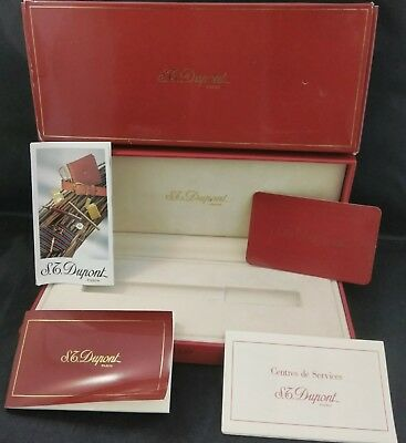 S.t. Dupont Gatsby Ball Point Pen Box And Paperwork #431239M (No Pen)