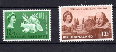 Bechuanaland. QEII. 1963-1964. Freedom from Hunger + Shakespeare. MNH