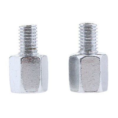 Pair Motorcycle Mirror Adapters Postive 8mm Mount to Reverse 8mm