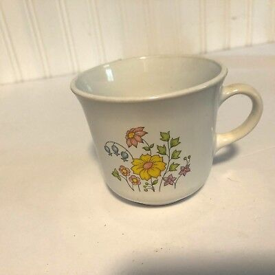 CORELLE SPRING MEADOW CUPS MUGS SET OF 7 lovely no chips or cracks