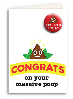 Congrats On Your Poop Card
