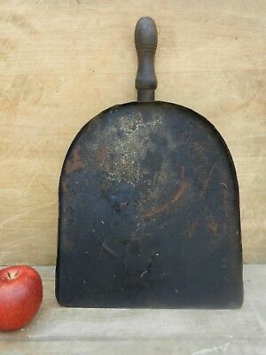 Antique Primitive Hand Forged Iron Kitchen Fireplace Oven Peel with Wood Handle