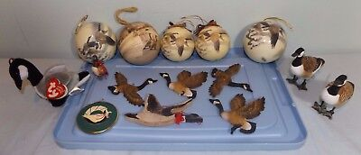 Lot 15 Canadian Geese Christmas Ornaments Wildlife Balls & Figural Ty Jingle