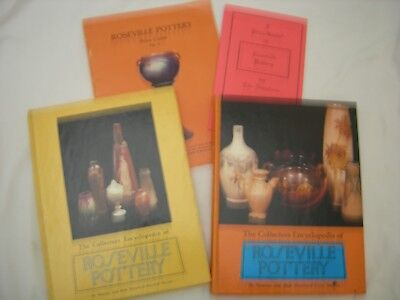 """ROSEVILLE POTTERY Books Guides Huxford 1st 2nd Series """"Roseville by the Numbers"""""""
