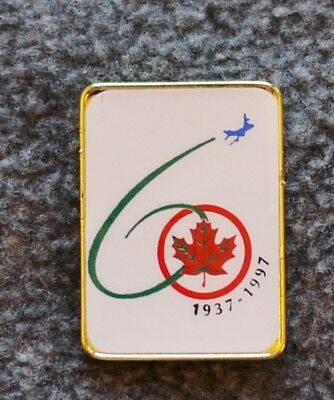 Vintage 1937-1997 Air Canada 60th Anniversary Pin  (Rectangle)