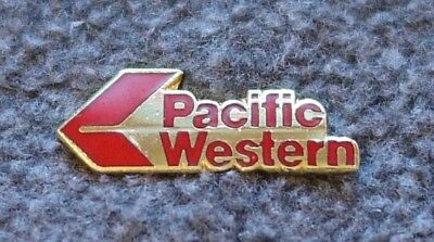 Pacific Western Airlines Red Logo Aviation Plane Air Canada Lapel Pin