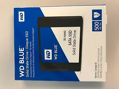 "WD Blue 3D NAND 500GB PC SSD - SATA III 6 Gb/s 2.5"" Solid State Drive"
